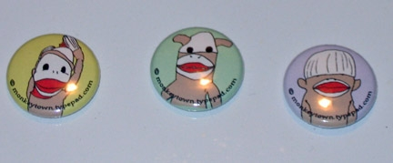 Monkey Town buttons!